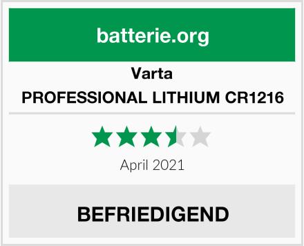 Varta PROFESSIONAL LITHIUM CR1216 Test