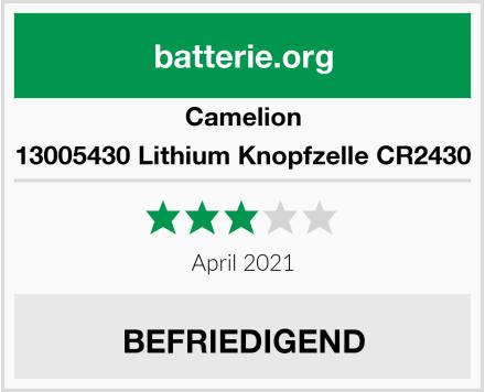 Camelion 13005430 Lithium Knopfzelle CR2430 Test