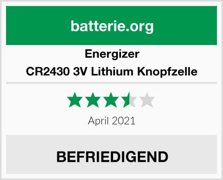Energizer CR2430 3V Lithium Knopfzelle Test
