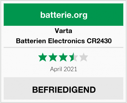 Varta Batterien Electronics CR2430 Test