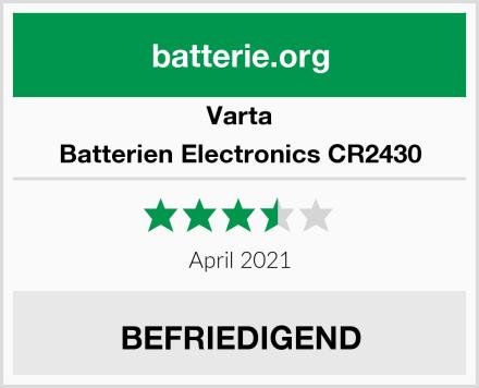 Varta Batterien Electronics CR2430 Test