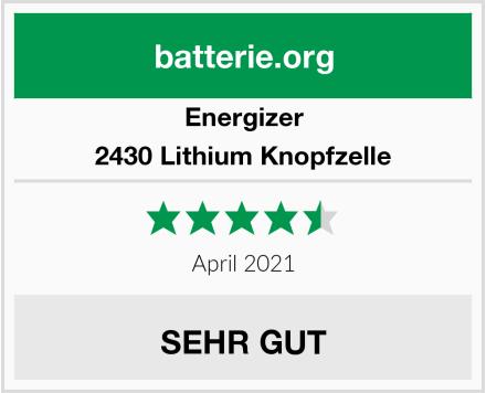 Energizer 2430 Lithium Knopfzelle Test