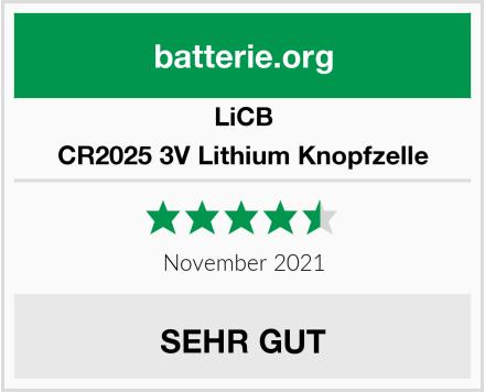 LiCB CR2025 3V Lithium Knopfzelle Test