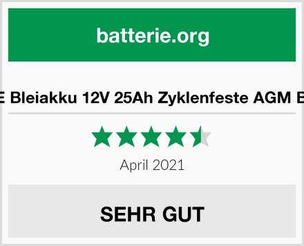 ECTIVE Bleiakku 12V 25Ah Zyklenfeste AGM Batterie Test