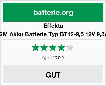 Effekta AGM Akku Batterie Typ BT12-9,5 12V 9,5Ah Test
