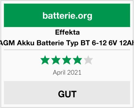 Effekta AGM Akku Batterie Typ BT 6-12 6V 12Ah Test