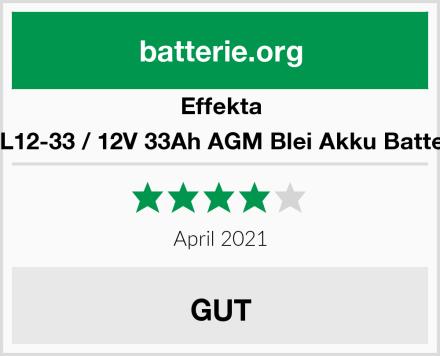 Effekta BTL12-33 / 12V 33Ah AGM Blei Akku Batterie Test