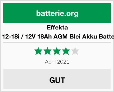 Effekta BT 12-18i / 12V 18Ah AGM Blei Akku Batterie Test
