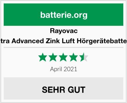 Rayovac Extra Advanced Zink Luft Hörgerätebatterie Test