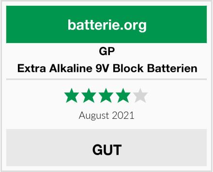 GP Extra Alkaline 9V Block Batterien Test