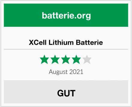 XCell Lithium Batterie Test