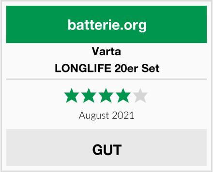 Varta LONGLIFE 20er Set Test