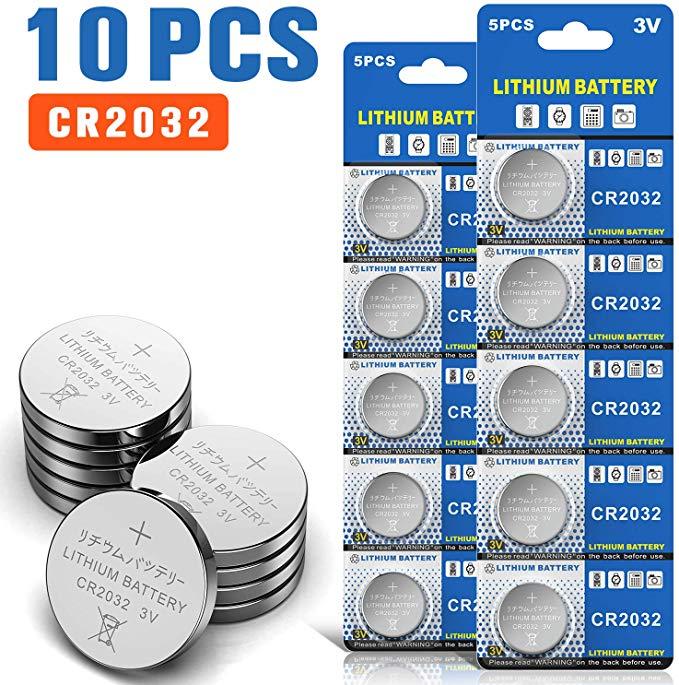 Bemb Lucky 10 Stück CR2032 3V Batterien CR 2032