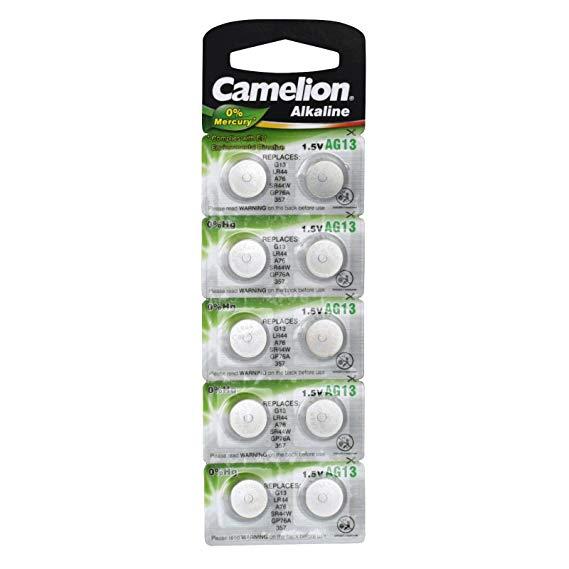 Camelion Batterie Knopfzelle 10 Stück AG 13 LR44