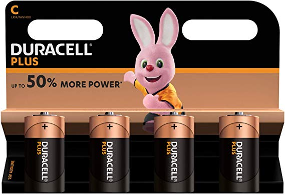 Duracell Plus C Baby Alkaline Batterien LR14