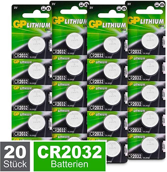 GP CR2032 Lithium Knopfzellen 3V
