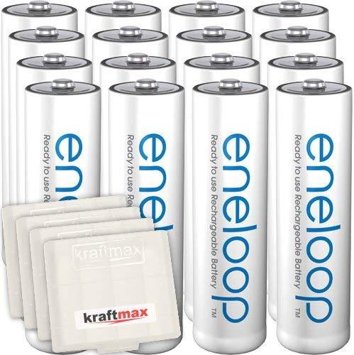 Kraftmax 16er-Pack Panasonic Eneloop AA / Mignon Akkus