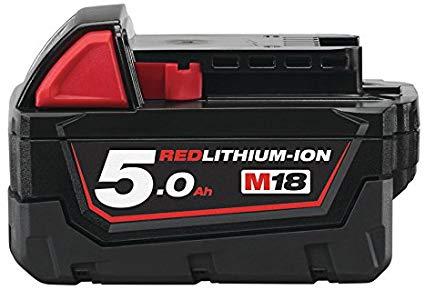 Milwaukee M18 B5, 18 V/5.0 Ah Red Li-Ion