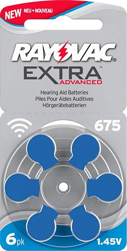 Rayovac Extra Typ 675 P675 PR44 ZL1 Hörgerätebatterien