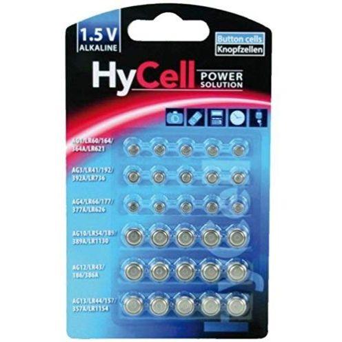 Ansmann HyCell 30 x Knopfzellen-Sparset Alkaline