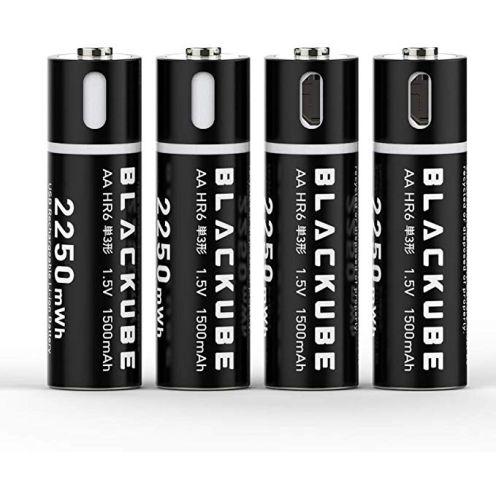 Blackcube aufladbare AA Lithium-Batterien