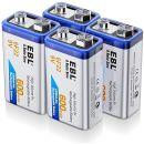 EBL 9V Li-Ionen Block Akku 6F22 Batterie