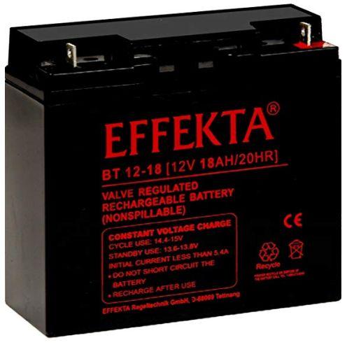 Effekta AGM Akku Batterie Typ BT 12-18 12V 18Ah Flachpol M5