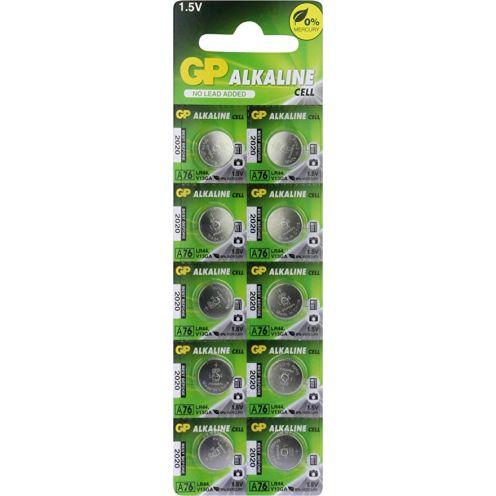 GP A76F-2C10 Knopfzellen Alkaline LR44