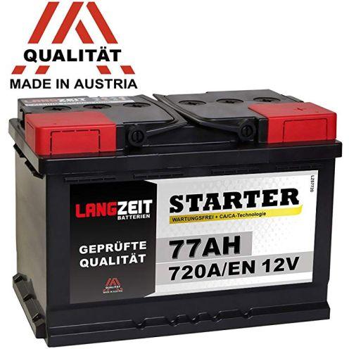 Langzeit Batterien Autobatterie 12V 77AH 720A/EN