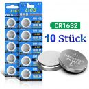 LiCB 10 Stück CR1632 3V Lithium Knopfzellen