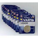 Varta CR2430 Knopfzelle 3V Batterie 10er Set