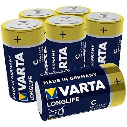 Varta Longlife Batterie C Baby Alkaline Batterien LR14