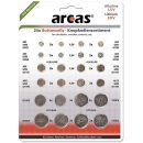 Arcas 12752400 Alkaline und Lithium Knopfzellensortiment