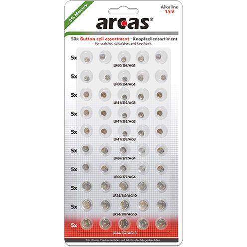 Arcas 12755000 Alkaline Knopfzellensortiment