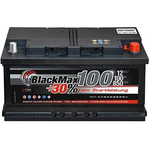 Black Max PKW Starter Auto Batterie 12 V 100Ah 870A/EN