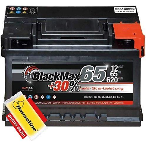 BlackMax Autobatterie 12V 65Ah