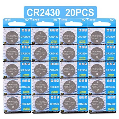 JZHUAZ 20 Stück CR2430 3V Lithium Knopfzelle