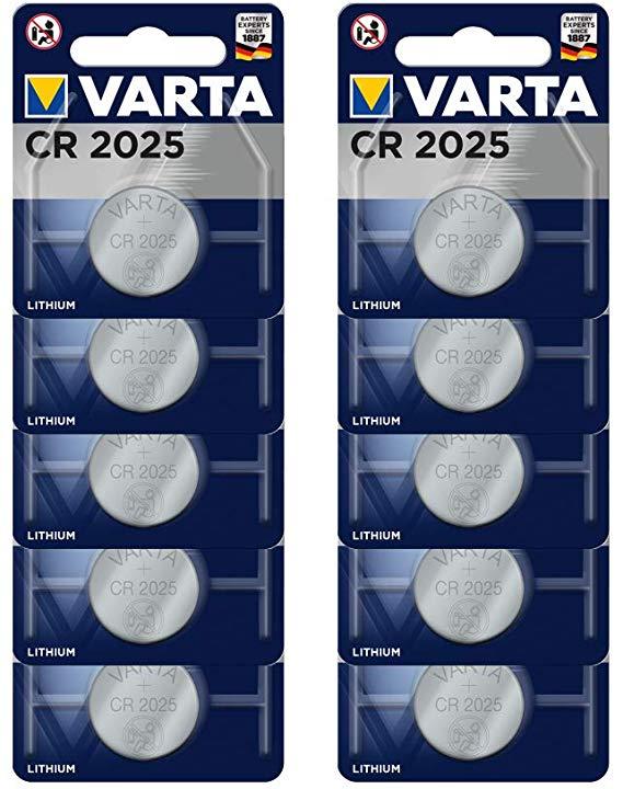 Varta Batterien CR2025 Lithium Knopfzelle 3V