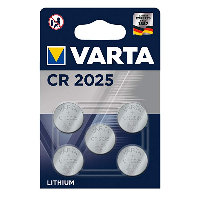 Varta Batterien Electronics CR2025 Lithium Knopfzelle